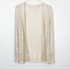 ANTHROPOLOGIE Cloud Chaser Cream Knit Cardigan